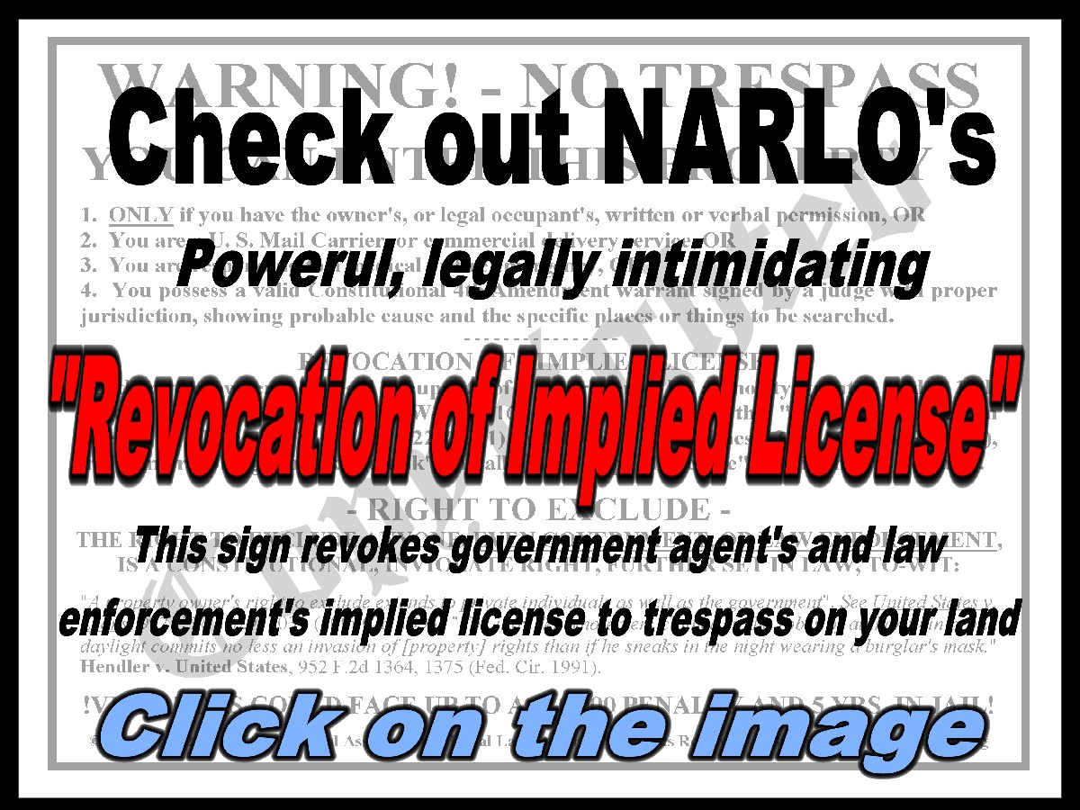 Revocation of Implied License Sign